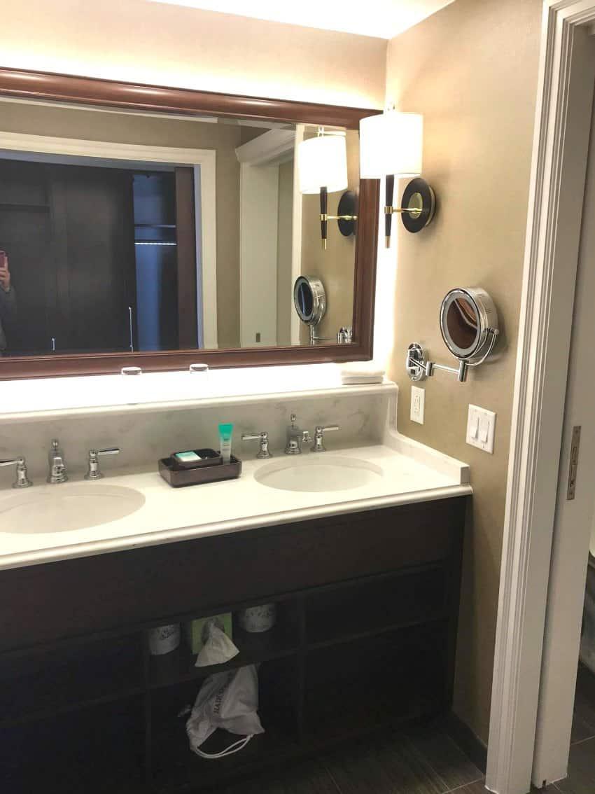 Disney Yacht Club New Room 2018 Double Sink Vanity