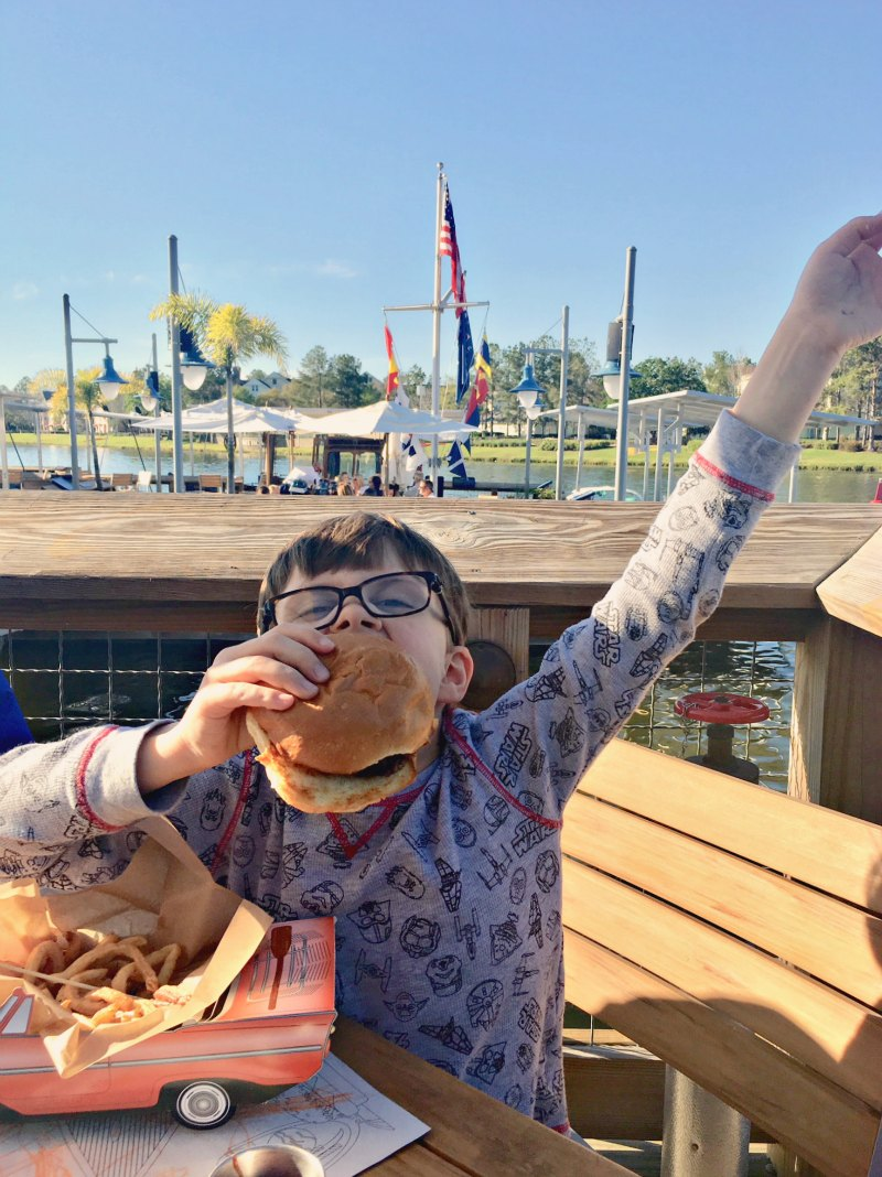 Kids Cheesburger at The Boathouse Disney Springs