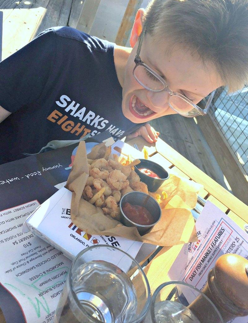 Kids Popcorn Shrimp at The Boathouse Disney Springs