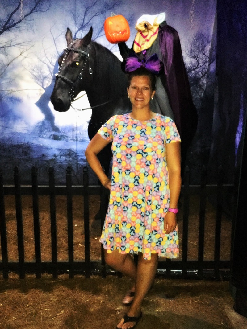 Photo Op with Headless Horseman Fort Wilderness