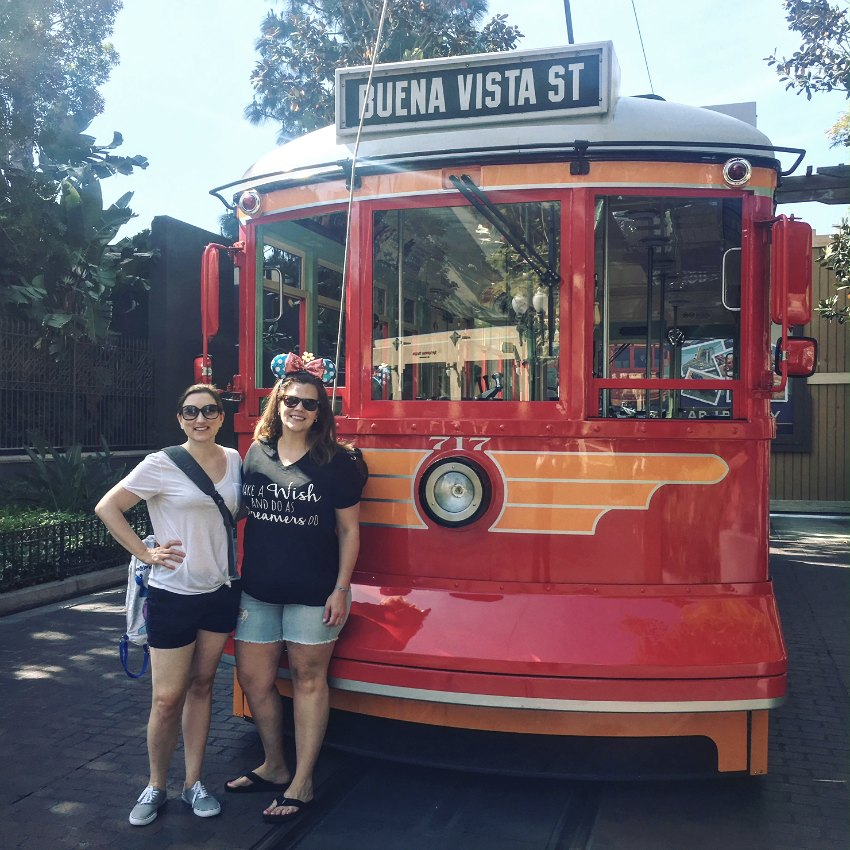 Friends at Disney California Adventure Trolley