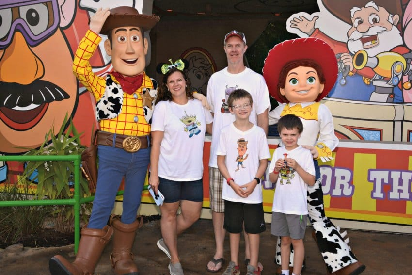 Disney Family tees for Toy Story Land Woody and Jessie