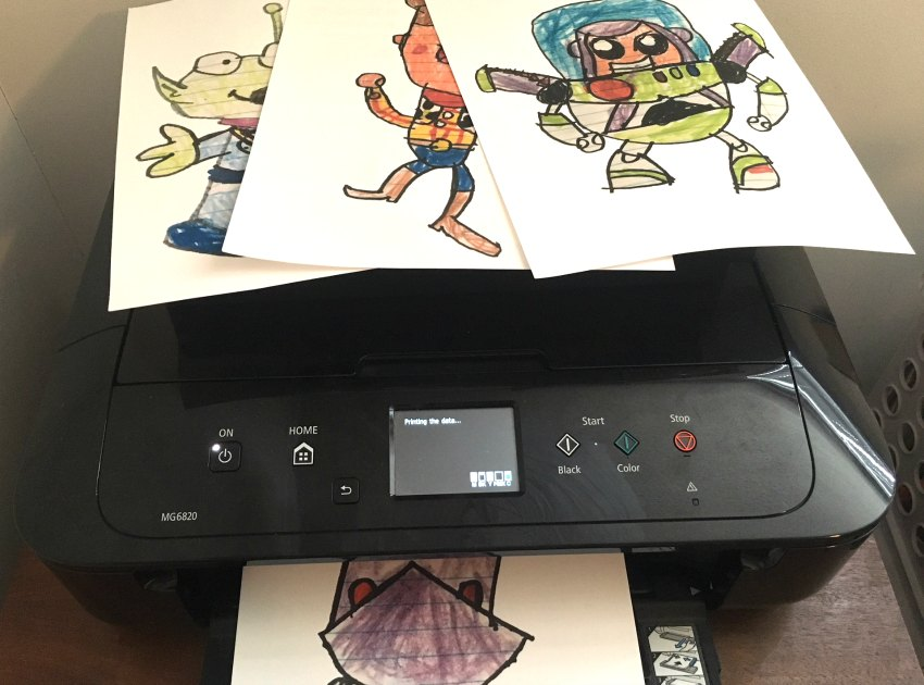 Printing artwork for Toy Story shirts