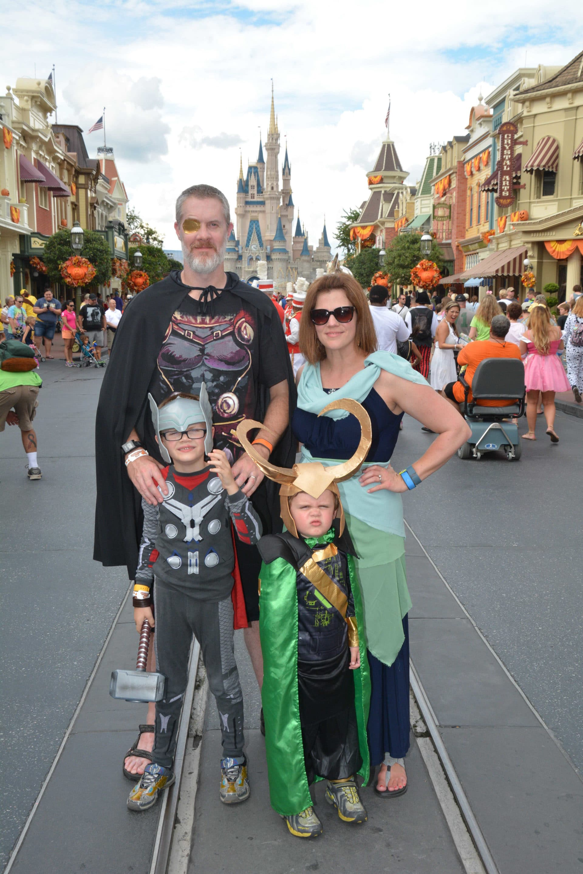 Asgard Family at Disney Halloween Party