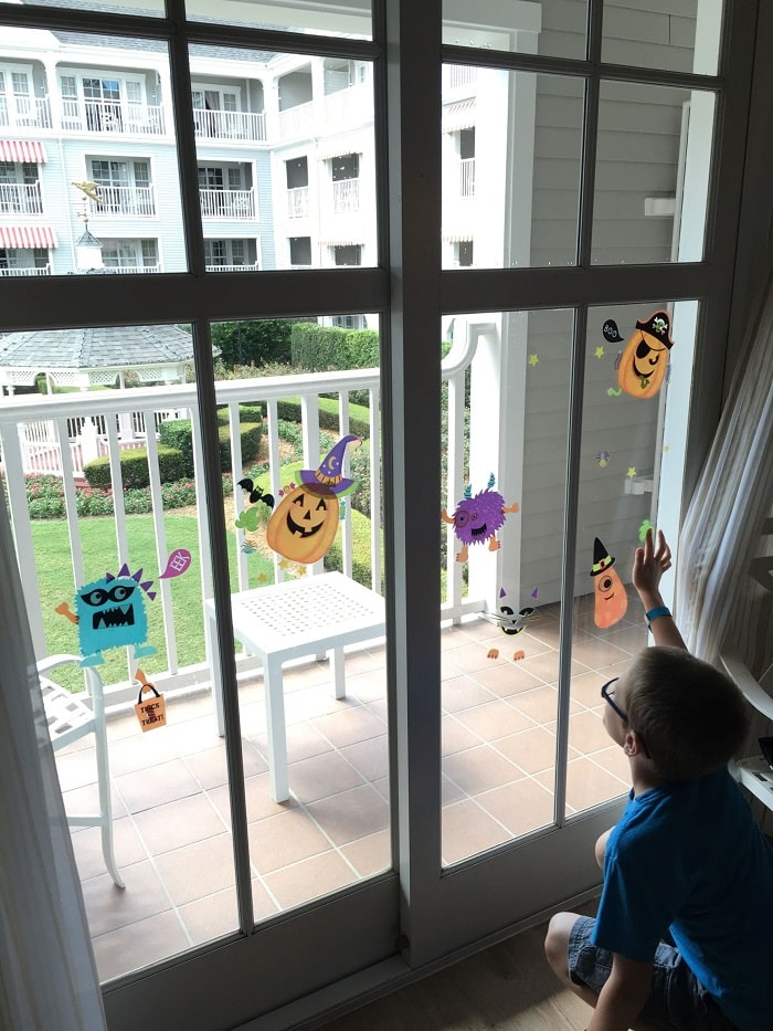 Decal decorations for Disney Halloween vacation
