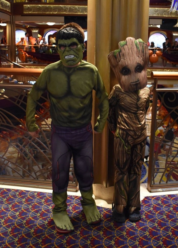 Disney Halloween costumes on Disney Cruise