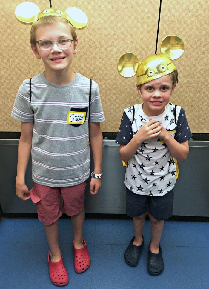 Happy boys after Pixar Play Zone fun