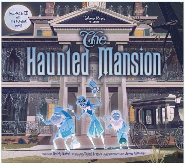 Haunted Mansion Book with CD cover disney halloween book