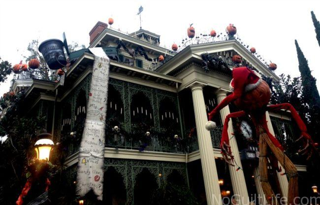 Haunted Mansion Disneyland Nightmare Before Christmas overlay