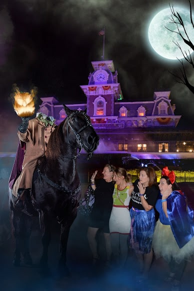 Headless Horseman magic shot Disney Halloween Party at Disney World