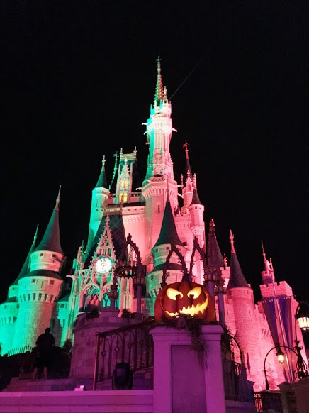 isney Halloween Pumpkin at Cinderella Castle MNSSHP