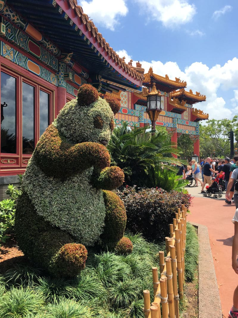 epcot panda topiary