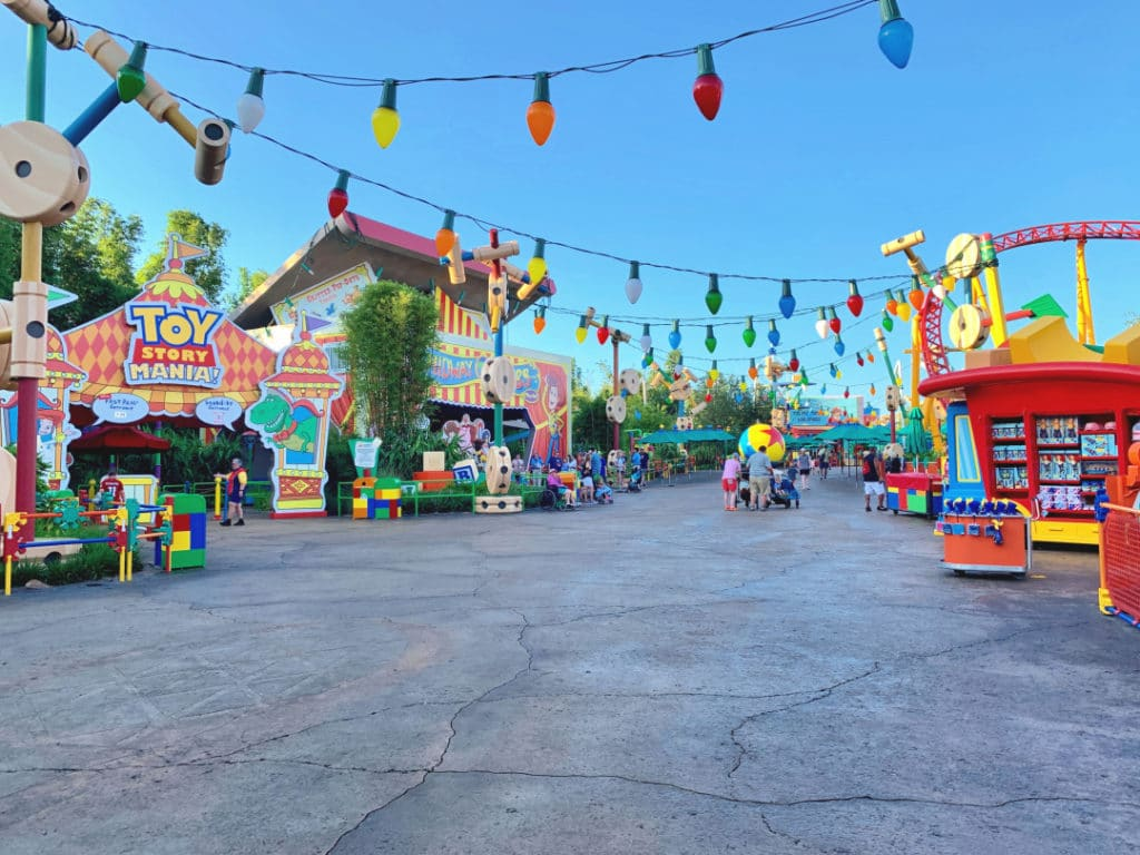 Empty Toy Story Land at Early Morning Magic